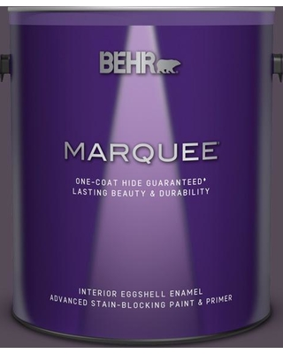 BEHR MARQUEE 1 gal. #670F-7 Blackberry Wine Eggshell Enamel Interior Paint and Primer in One