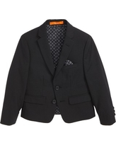 Boy's Tallia Solid Wool Blend Sport Coat, Size 4 - Black