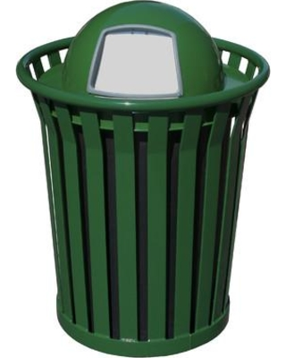 Witt Wydman Receptacle 36 Gallon Swing Top Trash Can WC3600-DT Color: Green