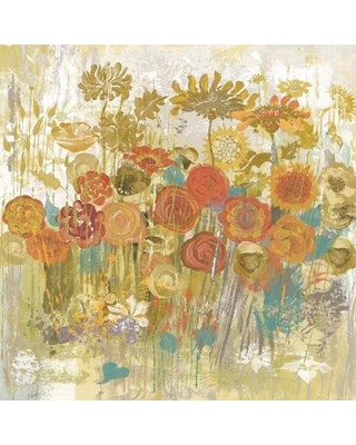 """Marmont Hill 'Floral Frenzy' by Alan Hopfensperger Painting Print on Wrapped Canvas MH-MWWAHAH-23-C- Size: 24"""" H x 24"""" W"""
