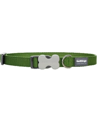 Red Dingo Classic Green Dog Collar, Large