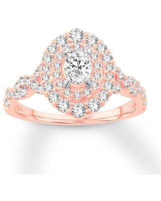 Jared Diamond Engagement Ring 1 ct tw Oval-cut 14K Rose Gold