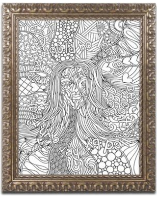 "Trademark Art ""Mixed Coloring Book 58"" by Kathy G. Ahrens Framed Graphic Art ALI3483-G1114F / ALI3483-G1620F Size: 20"" H x 16"" W x 0.5"" D"