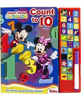 Disney Mickey Mouse Clubhouse - Count to 10 My Write-and-Erase Board Sound Book - PI Kids