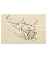 Stampendous House Mouse Tangle Tumble Wood Rubber Stamp