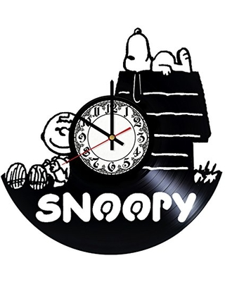 Snoopy Cartoon Handmade Vinyl Record Wall Clock - Get unique room wall decor - Gift ideas for his and her – Modern Unique Home Art Design