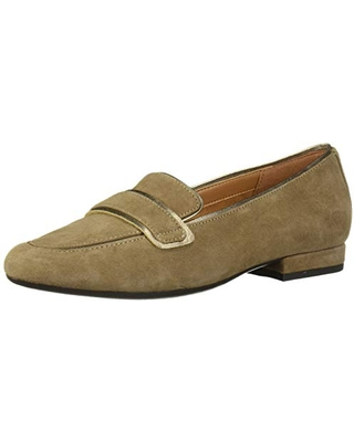 Aerosoles Women's Outer Limit Loafer Flat, Taupe Suede, 9.5 M US