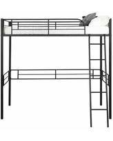 Isabelle & Max™ Jernigan Twin Platform Loft Bed by Isabelle & Max™ Metal in Black, Size 40.5 W x 78.0 D in   Wayfair