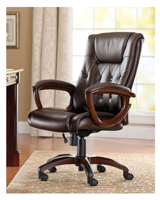 Better Homes and Gardens Bonded Leather Manager's Chair, Brown