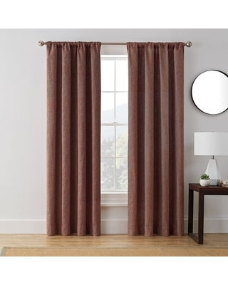 Brookstone Troy 100-Percent Blackout Window Curtain Panel (95 Inches - Spice)