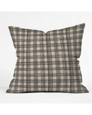 Joy Laforme Gingham Check Oversize Square Throw Pillow Brown - Deny Designs
