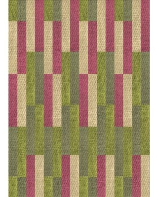 Bushra Wool Green/Beige/Pink Area Rug East Urban Home Rug Size: Rectangle 2' x 4'