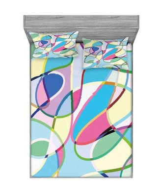 Odd Experimental Mix of Drawings Altering Active Motion States Sheet Set East Urban Home