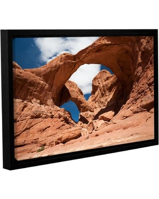 """Loon Peak 'Double Arch Horizontal' by Cody York Framed Photographic Print on Wrapped Canvas LNPK2577 Size: 32"""" H x 48"""" W x 2"""" D"""