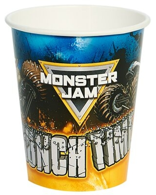 Monster Jam Paper Disposable Cups