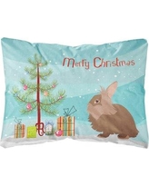 The Holiday Aisle Fortuna Lionhead Rabbit Christmas Indoor/Outdoor Throw Pillow BF148662