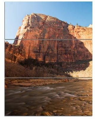 Design Art 'Glow of Morning' Photographic Print Multi-Piece Image on Canvas PT8867-3PV