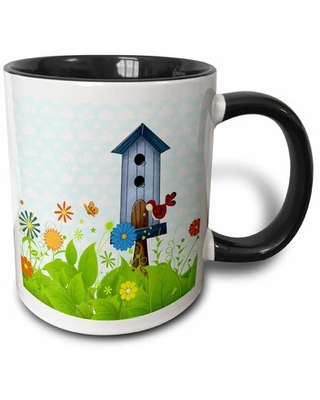Amazing Deal On Phipps Bird And Birdhouse In A Sweet Garden Of Flowers Coffee Mug Winston Porter