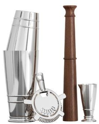 Crafthouse by Fortessa Signature 4 Piece Cocktail Shaker Bar Tool Set CRFTHS.SHAKERST