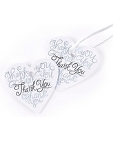 25ct Thank You Wedding Favor Cards, White