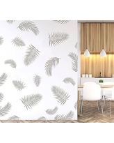 Palm Fronds Wall Decal, Warm Gray