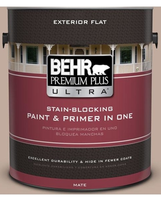 BEHR ULTRA 1 gal. #PWL-87 Fall Mood Flat Exterior Paint and Primer in One