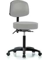 Perch Chairs & Stools Office Chair Color: Grey Vinyl