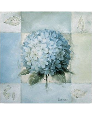 """East Urban Home 'Blue Hydrangea Study 2' Acrylic Painting Print on Wrapped Canvas EBHV3102 Size: 14"""" H x 14"""" W"""