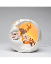 CosmosGifts Santa with Christmas House Night Light 41629