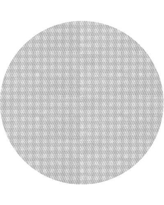 East Urban Home Plaid Wool Gray Area Rug X111169874 Rug Size: Round 3'