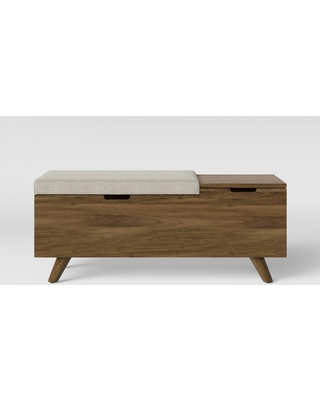 Prime Project 62 Meller Wood And Upholstered Storage Bench Gray Project 62 From Target Bhg Com Shop Andrewgaddart Wooden Chair Designs For Living Room Andrewgaddartcom