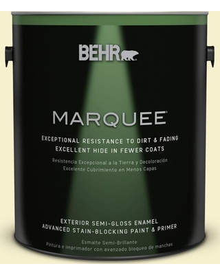 BEHR MARQUEE 1 gal. #380C-2 Desert Lily Semi-Gloss Enamel Exterior Paint and Primer in One