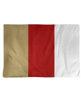 "San Francisco Football Stripes 18"" Placemat East Urban Home Color: Red"