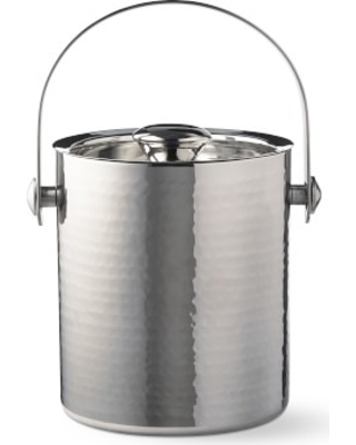 Hammered Stainless-Steel Ice Bucket