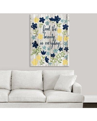 """Winston Porter 'Cottage Inspiration II' Textual Art Print on Canvas W001608327 Format: Wrapped Canvas Size: 40"""" H x 30"""" W x 1.25"""" D"""