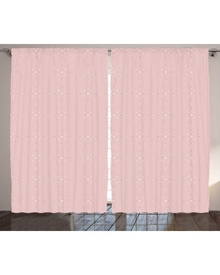 """Celtic Abstract Room Darkening Rod Pocket Curtain Panels East Urban Home Size per Panel: 54"""" x 63"""""""