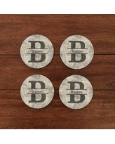 4 Wooden Shoes Personalized Sandstone Look Coaster WF-3-107