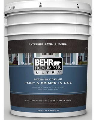 BEHR ULTRA 5 gal. #PPU26-15 Halation Satin Enamel Exterior Paint and Primer in One