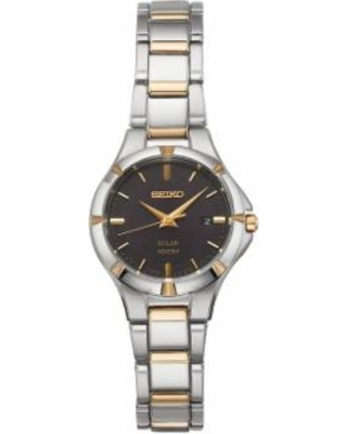 Seiko Women's Core Two Tone Stainless Steel Solar Watch - SUT316, Size: Small