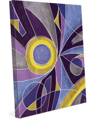 """Click Wall Art Convergence Painting Print on Wrapped Canvas in Yellow and Purple CBS0002492CAN Size: 24"""" H x 20"""" W x 1.5"""" D"""