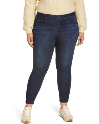 Wit & Wisdom Ab-Solution Luxe Touch High Waist Skinny Jeans, Size 18W in In-Indigo at Nordstrom