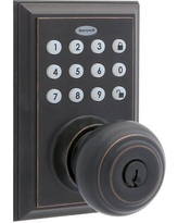 Honeywell Digital Bluetooth Lock Electronic Door Knob with Rectangular Rosette 8832301S Finish: Oil Rubbed Bronze