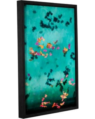 """Bloomsbury Market 'Swirling Leaves and Petals 2' Framed Painting Print on Wrapped Canvas BLMT3843 Size: 36"""" H x 24"""" W x 2"""" D"""