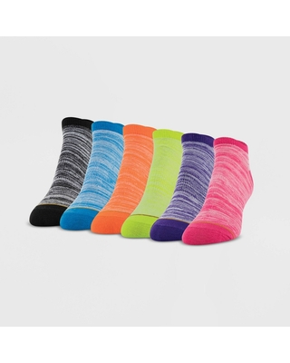 All Pro Women's Lightweight 6pk No Show Athletic Socks - Assorted Colors 4-10