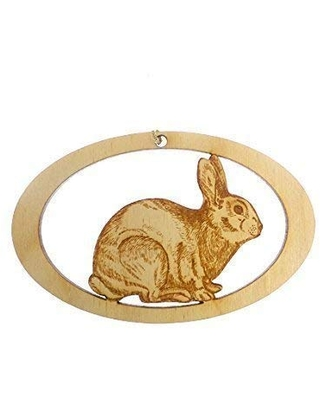 Rabbit Ornament - Rabbit Christmas Ornament - Personalized