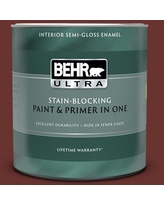 Special Prices On Behr Ultra 1 Qt Bxc 39 Sunset Orange Extra Durable Semi Gloss Enamel Interior Paint Primer