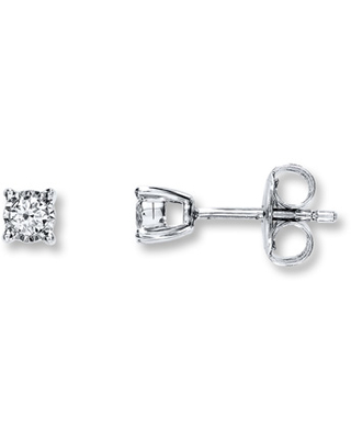 Radiant Reflections 1/10 cttw Diamonds Sterling Silver Earrings