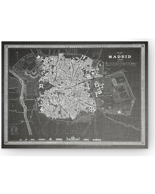 """Wexford Home 'Madrid Sketch Map' Graphic Art Print on Wrapped Canvas in Gray HAC17-m112- Size: 24"""" H x 32"""" W x 1.5"""" D"""