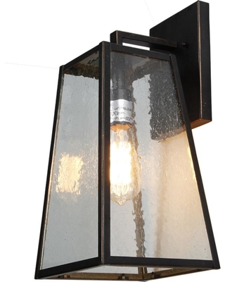 Rockies Containers 1-Light Oil Rubbed Bronze Outdoor Wall Lantern Sconce Light