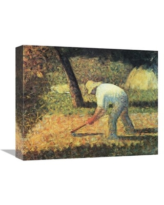 'Farm Laborer with Hoe' Print on Canvas East Urban Home